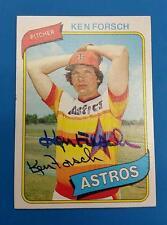 RARE KEN FORSCH (SP) AUTO AUTOGRAPH #642 HOUSTON ASTROS 1980 TOPPS MLB BASEBALL