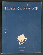 'PLAISIR DE FRANCE' FRENCH VINTAGE MAGAZINE MAY 1954