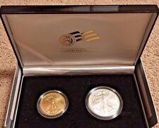 2006 W GOLD AND SILVER AMERICAN EAGLE 20TH ANNIVERSARY COIN SET IN BOX PRISTINE