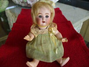 "8"" German Catterfelder Puppenfabric Toddler Doll With Starfish Hands - All Orig"