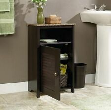Bathroom Storage Cabinet Floor Bath Accessories Shelf Organizer Wood Office New