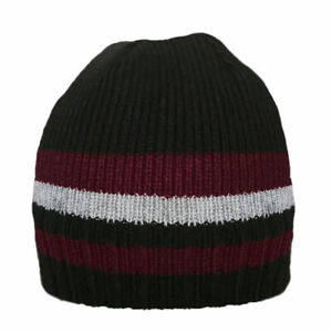 Black & Burgundy Men's Hat Thinsulate Fleece Lined Warm Winter Angling Fishing a