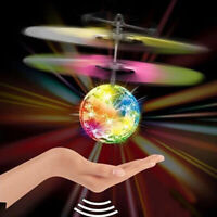 Colorful LED Light Electric Flying Ball IR Sensing RC Helicopter Kids Toy Gift