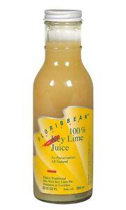 FLORIBBEAN Key Lime Juice - 100% Single Strength Naturally Grown Key Lime 12 oz