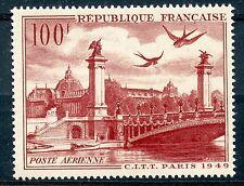 STAMP / TIMBRE FRANCE NEUF POSTE AERIENNE N° 28 ** VUE DE PARIS 1949
