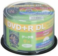 50 Hi-Disc DVD+R DL for Data 8.5GB 8x Speed Dual Layer Inkjet Printable Dis