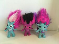 New ListingThe Zelfs 3� Troll Dolls Lot of 3