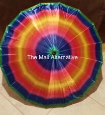 "Gay Pride Umbrella, unisex, push button, 33"" long"