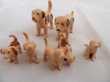 Playmobil Spare Parts San Bernard dogs family and golden retriever puppies