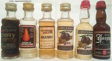Liquori Lotto 6 mignon differenti distilleria La Rocca d'Asolo Treviso Italy
