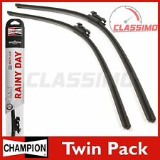 Champion Flat Front Wiper Blades for CITROEN C2 C3 Mk 1 + PEUGEOT 308 Mk 2 1007