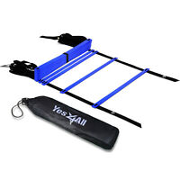 Yes4All Speed Agility Ladder Adjustable Rung 12  Soccer Football with Carry Bag