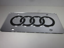 AUDI Acrlic Mirror License Plate Auto Tag nice