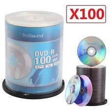 Paquet 100 DVD-R 120 Minutes 4.7GO 16x Vitesse Enregistrable Blanc DVD Disques