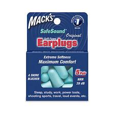 Macks tapones para los oídos-Tapones para los oídos de espuma suave Confort 5 pares dormir estudiar trabajo herramientas