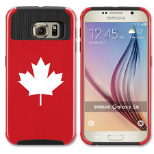 For Samsung Galaxy S6 S7 Edge S8 + Shockproof Hard Case Cover Maple Leaf Canada