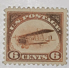 TRAVELSTAMPS: 1918 US STAMPS AIRMAIL SCOTT # C1 MOGH CURTISS JENNY BIPLANE