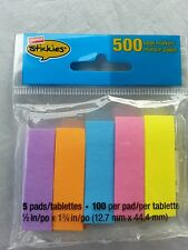 Staples Brand post-it Stickies Page Markers 100 per pad 5 pads 500 Sheets