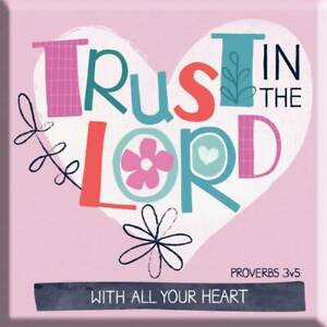 Trust In The Lord Fridge Magnet Ideal Christian Gift Birthday Christmas Bible