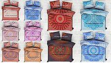 5 PC Wholesale Indian Mandala Queen Cotton Duvet Quilt Cover Comforter Set Decor