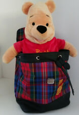 Winnie The Pooh Backpack Purse Bear School Fashion Bag Carryall Disney Cartoon