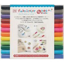 "Kuretake ""ZIG FabriColor Twin"" 12Pens, Fabric Colour Pen, TC-4000A/12V"