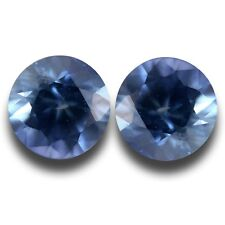 3.5 MM | Natural Blue Sapphire Pair From SriLanka| Loose Gemstone-NEW