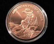 Copper 1 oz.  Round .999 Pure Prospector, Mining, Gold, Silver, Prepper $, Coin