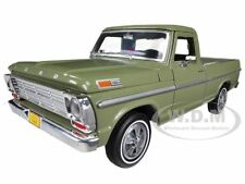 1969 FORD F-100 PICKUP TRUCK GREEN 1/24 DIECAST MODEL CAR BY MOTORMAX 79315
