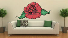 ced377 Full Color Wall decal Sticker Rose Flower living room bedroom