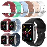 Sweat-proof Sport Silicone Band Strap for Apple Watch iWatch 1 2 3 4 38mm/42mm