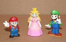 1994 Princess Peach / Super Mario / Luigi old retro mini Figure Figur Nintendo