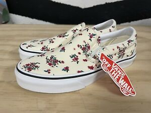 Vans Womens Floral Classic Slip-on Shoes Ditsy Floral Classic Size 6.5 NEW Men 5