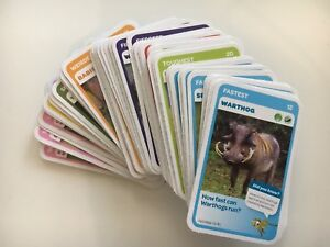 Woolworths SUPER Animals Cards.  Blue cards $1 for 2 - Unused