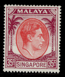 SINGAPORE GVI SG25a, 35c scarlet & purple, LH MINT. Cat £13.