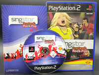 """PS 2 Playstation 2 Spiel """" SINGSTAR DEUTSCH ROCK POP 2 """" KOMPLETT"""