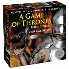 Game of Thrones Book Series Quotes Year-In-A-Box 2019 Desk Calendar NEW SEALED