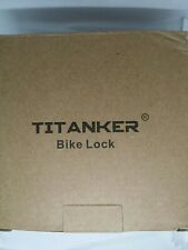 Titanker Bike Lock Cable   Basic Self Coiling Resettable 4 - DIGIT LOCK BLACK