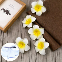 6Pcs Women Plumeria Flower Hair Clip Accessories Barrette Hawaiian Wedding Party