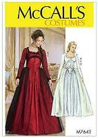 McCalls Sewing Pattern 7642 Misses Dress Costume Historical Size 14-22