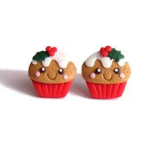 Stocking Relleno Salchicha Navidad Regalos para niños comida Cupcake Pendientes Joyería
