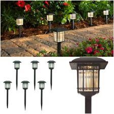 6-Pack Outdoor LED Solar Light Lamp Landscape Pathway Garden Yard Black 6-Lumens