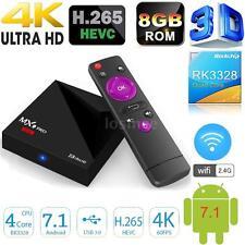 MX9 Pro Mini Android 7.1 RK3328 Movie Playing TV Box Quad Core 4K H.265 WiFi 8G