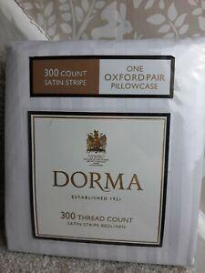 Dorma white satin stripe pair of oxford pillowcases
