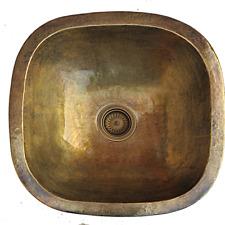 Copper Basin Brass Patina Kitchen sink Rounded ,Antique Hammered vessel Handmade