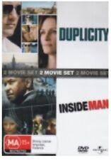 Duplicity / Inside Man - Double Feature - Dvd (2 Disc Set) PAL R4 🇦🇺 Brand New