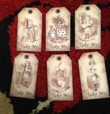 24 Alice in wonderland Take Me tags  vintage Birthday tea party Decorations