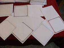 """25 X blanco con la frustración de 6"""" X 6"""" Cuadrado Tarjeta espacios en blanco y Sobres Colores [5]"""