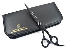 "7"" Professional Hairdressing Scissors Barber Haircutting Shears Black Sharp"