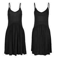 tolles mini Kleid Sommerkleid schwarz Gr.34 XS Strand Jersey Shirtkleid Viscose